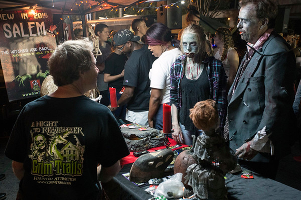 Several merchants set up shop near the intersection of Grinstead and Bardstown Road during the Louisville Zombie Walk offering dark themed gear and ghoulish delights. 8/26/17