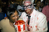 Traneshia Breaux samples some of the Colonel's fried brains during the annual Louisville Zombie Walk on Saturday. 8/26/17