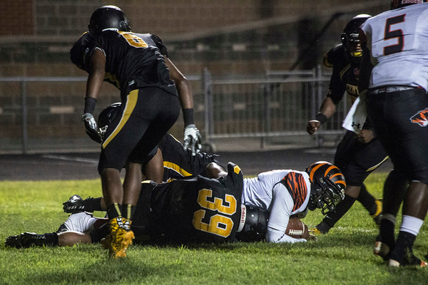 Fern Creek gave up a safety late in the first half of action against Central High School on Thursday night. 8/31/17