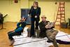 Rodell Rosel, Elizabeth Batton, and Garrett Sorensen rehearse a scene from the Kentucky Opera performance of Ariadne auf Naxos. 9/1/17