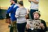 Garrett Sorensen and other members of the Kentucky Opera work through a scene during rehearsal for Ariadne auf Naxos. 9/1/17