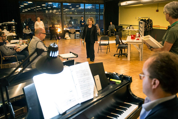Members of the Kentucky Opera prepare for their upcoming  performance of Ariadne auf Naxos on Friday night. 9/1/17