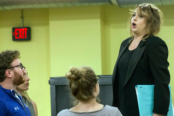 Elizabeth Batton plays the part of The Composer in the Kentucky Opera performance of Ariadne auf Naxos. 9/1/17