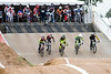A group of riders descends the opening hill after being released from the gate during the Derby City BMX Nationals. 9/2/17
