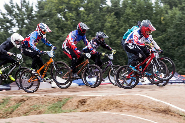 A pack of riders flies by during the Derby City BMX Nationals on Saturday. 9/2/17
