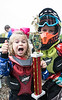 Capri Matusic and her brother Rocco celebrate Capri's 1st place win in a strider race during the Derby City BMX Nationals on Saturday. 9/2/17