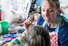 Face paint artist Shauna Smith set up shop in the Kids Zone of the Highlands Festival on Saturday. 9/9/17