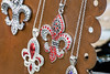 An assortment of fleur-de-lis items were on sale during the annual Highlands Festival on Saturday. 9/9/17
