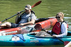 Nicole and Eric McKendrick wait for the start of the 2.5 mile course of the Great Ohio River Odyssey. 9/16/17