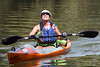Sylvia Bednarski smiles as she sees family members cheering her on from a boat dock at the end of her 22-mile journey in the Great Ohio River Odyssey. 9/16/17