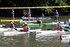 Participating paddlers in the 7-mile course of the Great Ohio River Odyssey await the official start on Saturday morning at Captain's Quarters. 9/16/17