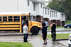 Tenants of the New Albany Housing Authority's Riverview neighborhood wait for children to arrive after school. 9/20/17