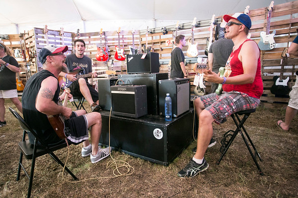 Impromptu jam sessions are encouraged in the Music Experience tent at the Bourbon & Beyond festival. 9/23/17