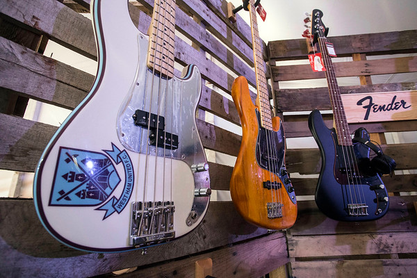 Guitars as far as the eye could see were on display in the Music Experience tent at Bourbon & Beyond. 9/23/17