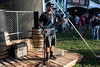 Tanner Keegan performs on a small stage outside of the Music Experience tent at Bourbon & Beyond. 9/23/17