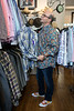 Food Network Star Jason Smith ponders the selection of shirts at Encore Resale. 9/27/17