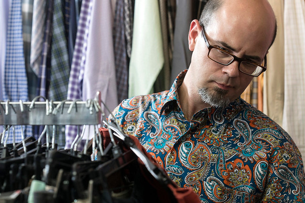 Chef Jason Smith browses a huge selection of consignment items available at Encore Resale in the Highlands. 9/27/17