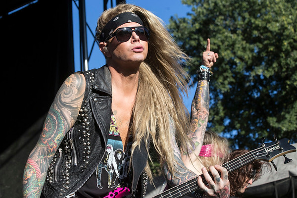 Paying tribute to the hair bands of the 80s and 90s, Steel Panther screeched across the Zorn Stage on day one of Louder Than Life. 9/30/17