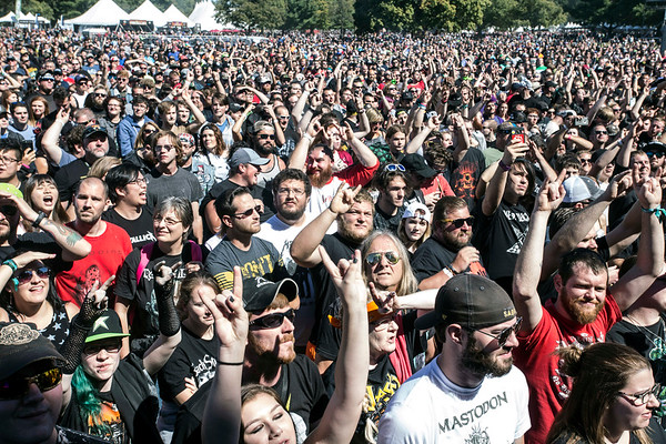 The Louder Than Life crowd watching New Years Day react to a Slayer cover. 9/30/17