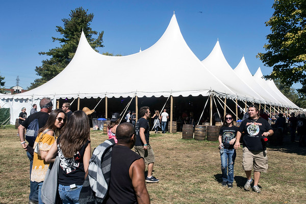 The Bourbon World tent at Louder Than Life provides shade and the finest in regional spirits. 9/30/17