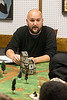Knight Middle teacher Brandon Thomas works with the other teachers to mix classroom lessons with board game themes for the students in Nerd Nation. 10/4/17