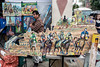 The horse racing themed art of Enrique Gonzalez was a hit duirng The St. James Court Art Show. 10/7/17