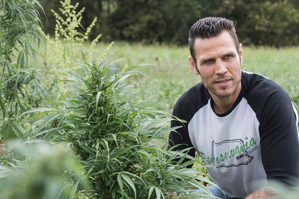 Former NHL player Riley Cote (Philadelphia Flyers 2002-2010) visits the Ananda Hemp farm as an advocate for medicinal hemp oil. 10/09/17