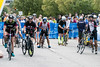 Ironman contestants beam with enthusiasm as they begin the 112 mile bike portion of the annual endurance challenge. 10/15/17