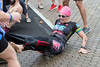 American Sara Larson gets some assistance in the removal of her wet suit during the Louisville Ironman. 10/15/17