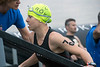 Canadian Miranda Tomenson was one of the first female contestants to finish the 2.4 mile swim at the start of the Louisville Ironman. 10/15/17