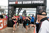 Ironman athletes transition from a 2.4 mile swim in the Ohio River to a 112 mile bike race out to Oldham County on Sunday. 10/15/17