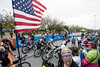 Ironman contestants draw support from cheering fans as they begin the 112 mile bike portion of the annual endurance challenge. 10/15/17
