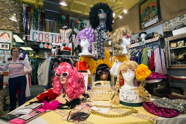 Wigs, sunglasses, and assorted jewelry can complete a look or be the basis of a Halloween costume from The Nitty Gritty. 10/17/17