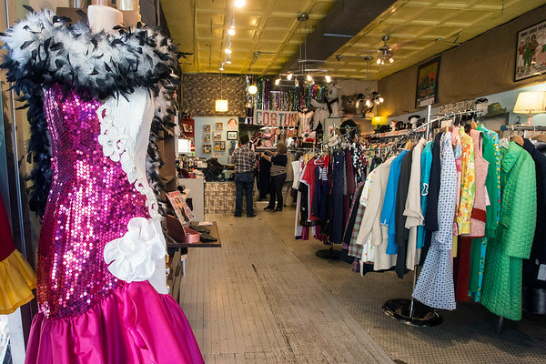 Vintage clothing and hats may be sold year round at The Nitty Gritty, but come Halloween they also serve as great costumes. 10/17/17
