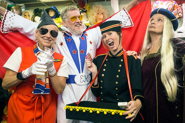Kirby Adams, Patrick Donley, Terri Burt, and Karen Dean show off a few of the vintage looks from The Nitty Gritty that can serve as great Halloween costumes. 10/17/17