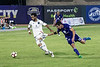Lou City FC's Kyle Smith gets tangled up against Bethlehem Steel on Friday night. 10/20/17