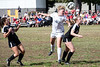 Sacred Heart's Meg Williams uses her head against Manual during the 7th Region Soccer Final on Saturday. 10/21/17