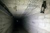 An old lantern hangs in the death chute below Waverly Sanatorium. 10/16/17