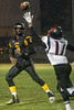 Central QB Rico White gets the pass off just in time against PRP's Dayon Pulliam. 10/27/17