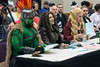 Joe Parrish, Mary Stephens, and Amanda Hans prepare to judge the adult costume contest on Saturday at the Derby City Comic Con. 10/28/17