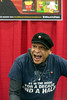 Voice actor Carey Means, know most for his role as Frylock on Aqua Teen Hunger Force, shares a few laughs with fans during the Derby City Comic Con. 10/28/17