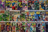 A wall of comics valued in the thousands of dollars was on display at one of the many vendors at the Derby City Comic Con. 10/28/17