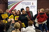 Chanelle Helm of Black Lives Matter Louisville is asked to leave during a JCPS Board meeting on Tuesday night for disrupting procedure to voice concern about a recent altercation between Jeffersontown police and Jeffersontown High students on school property. 11/7/17