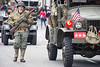Vintage uniforms and vehicles from the various wars of the 20th Century were showcased during the Veterans Day Parade. 11/11/17