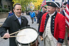Governor Matt Bevin shows off his drum skills before the start of the Veterans Day Parade on Saturday morning. 11/11/17