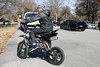 """Asarius """"Ace"""" Cole drove his mini-bike around during the annual gathering of bikers at the Thanksgiving Day Juice Bowl in Shawnee Park. 11/23/17"""
