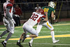 St. X WR Cameron Garrett fights for yardage after a pass reception against Scott County. 11/24/17