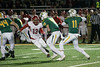 St. X QB Jack Albers gets ready to launch a touchdown pass to WR Ben Mueller in the 6A semifinal against Scott County. 11/24/17