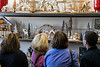A wall of miniature holiday set pieces drew the attention of shoppers in Scout on Small Business Saturday. 11/25/17