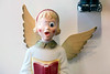 A vintage yard decoration angel in Scout showed signs of wear and tear from her previous years in service. 11/25/17